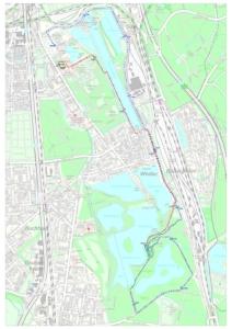 Winterlaufserie Strecke 15 km