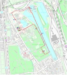 Winterlaufserie Strecke 5 km